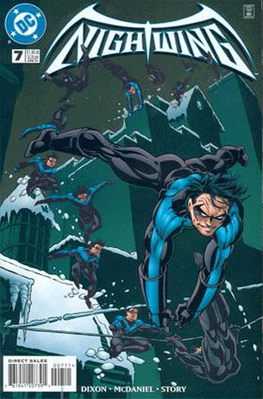 Cover of Nightwing (Vol 1) #7. One of 250,000 Vintage American Comics on sale from Krypton!