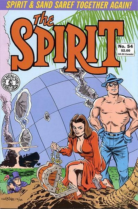 Cover of Spirit (Kitchen Sink) (Vol 1) #54. One of 250,000 Vintage American Comics on sale from Krypton!