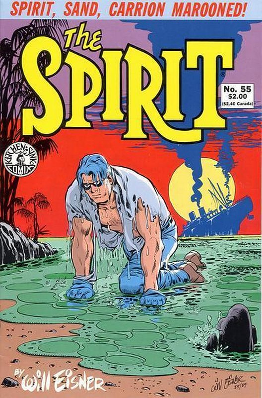 Cover of Spirit (Kitchen Sink) (Vol 1) #55. One of 250,000 Vintage American Comics on sale from Krypton!