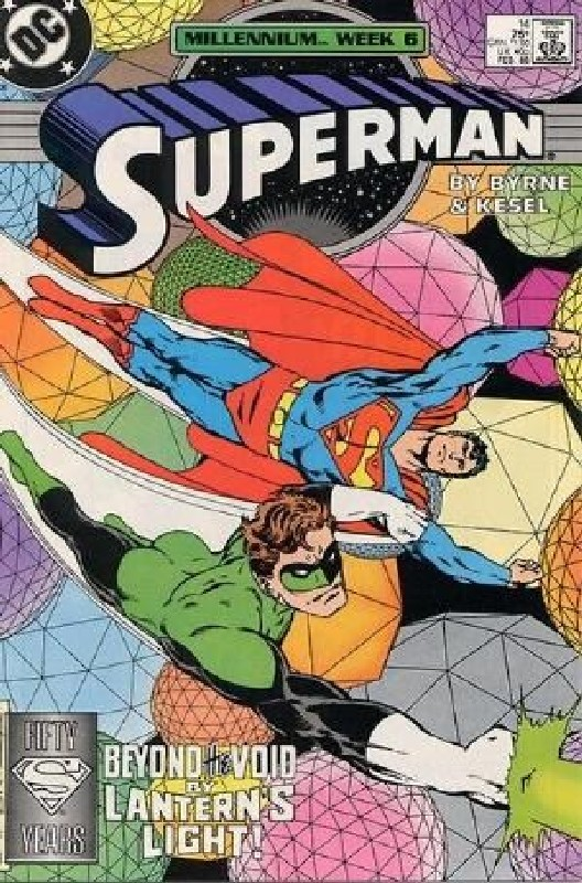 Cover of Superman (Vol 2) #14. One of 250,000 Vintage American Comics on sale from Krypton!