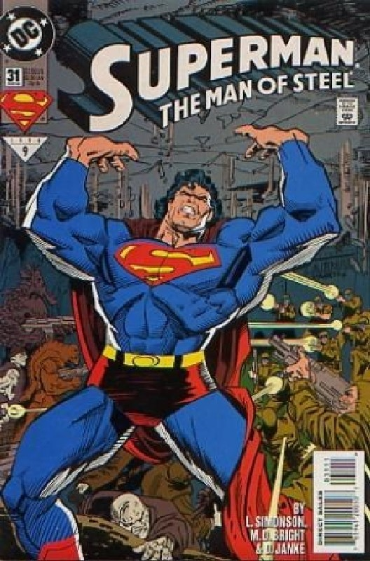 Cover of Superman: Man of Steel (Vol 1) #31. One of 250,000 Vintage American Comics on sale from Krypton!