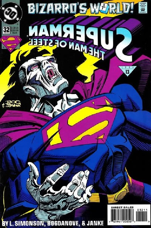 Cover of Superman: Man of Steel (Vol 1) #32. One of 250,000 Vintage American Comics on sale from Krypton!