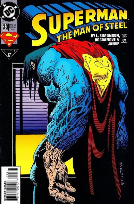 Cover of Superman: Man of Steel (Vol 1) #33. One of 250,000 Vintage American Comics on sale from Krypton!