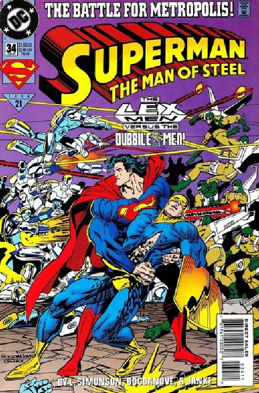 Cover of Superman: Man of Steel (Vol 1) #34. One of 250,000 Vintage American Comics on sale from Krypton!