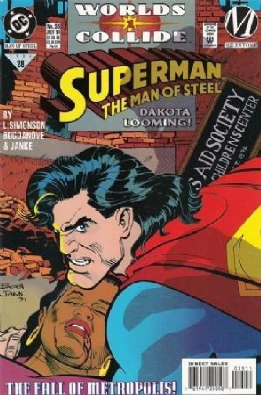 Cover of Superman: Man of Steel (Vol 1) #35. One of 250,000 Vintage American Comics on sale from Krypton!