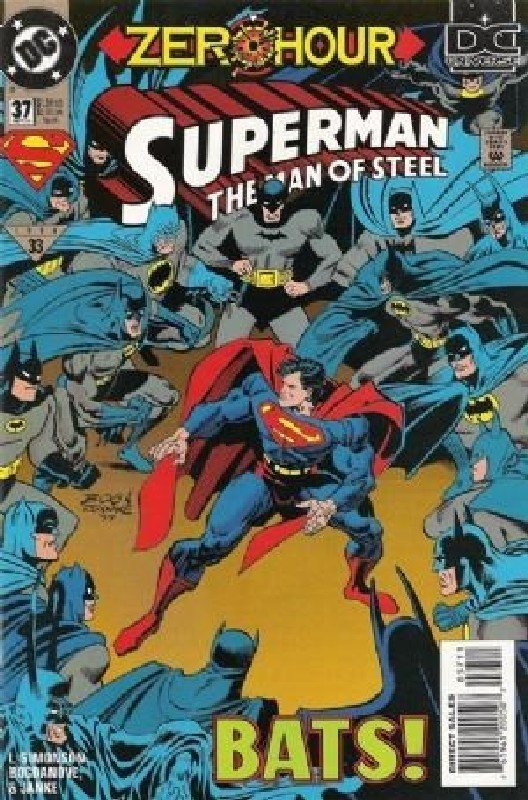Cover of Superman: Man of Steel (Vol 1) #37. One of 250,000 Vintage American Comics on sale from Krypton!