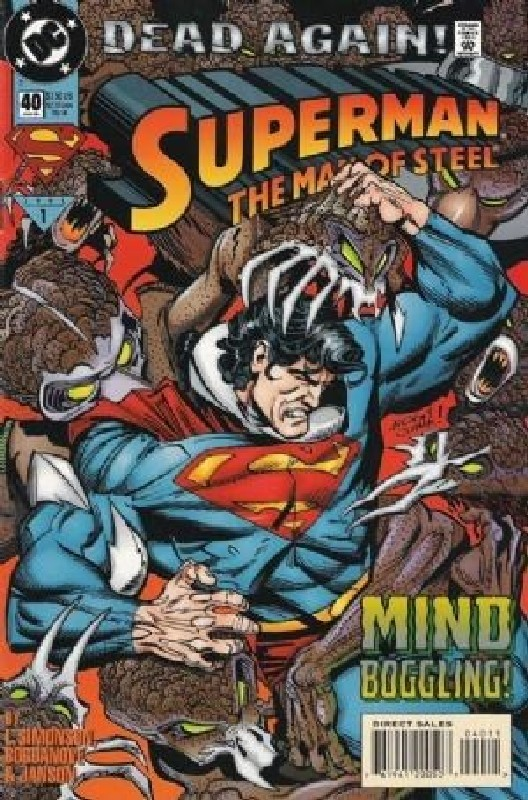Cover of Superman: Man of Steel (Vol 1) #40. One of 250,000 Vintage American Comics on sale from Krypton!