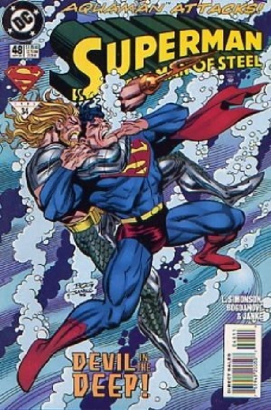 Cover of Superman: Man of Steel (Vol 1) #48. One of 250,000 Vintage American Comics on sale from Krypton!