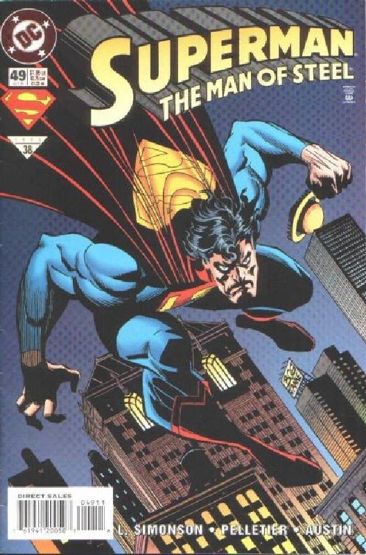 Cover of Superman: Man of Steel (Vol 1) #49. One of 250,000 Vintage American Comics on sale from Krypton!