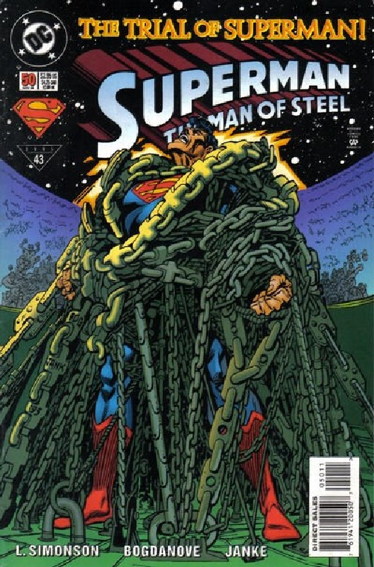 Cover of Superman: Man of Steel (Vol 1) #50. One of 250,000 Vintage American Comics on sale from Krypton!