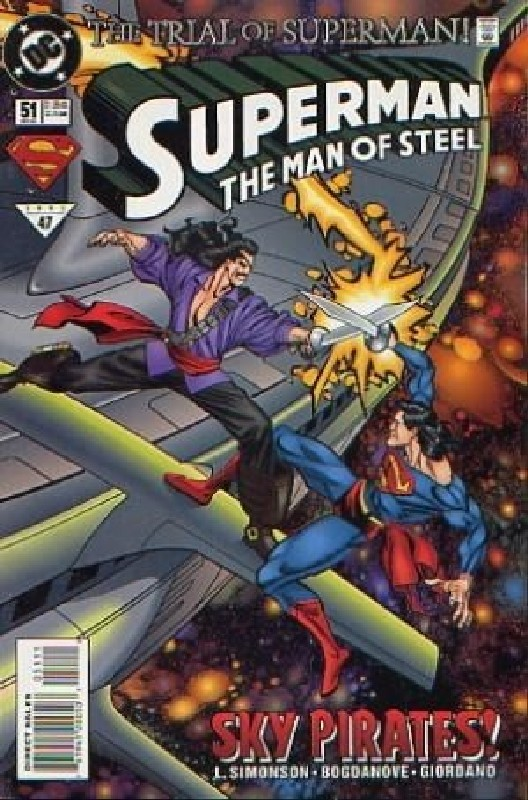 Cover of Superman: Man of Steel (Vol 1) #51. One of 250,000 Vintage American Comics on sale from Krypton!