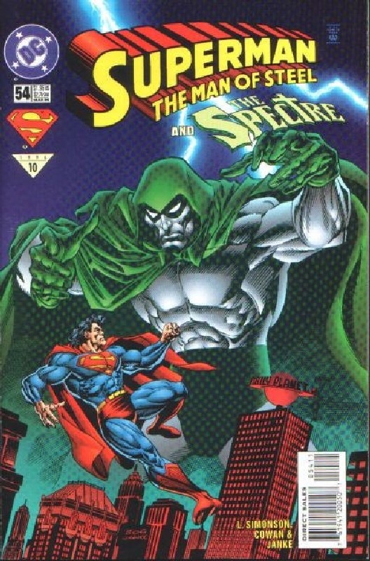 Cover of Superman: Man of Steel (Vol 1) #54. One of 250,000 Vintage American Comics on sale from Krypton!