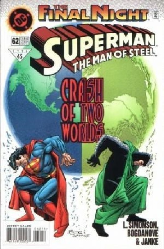 Cover of Superman: Man of Steel (Vol 1) #62. One of 250,000 Vintage American Comics on sale from Krypton!