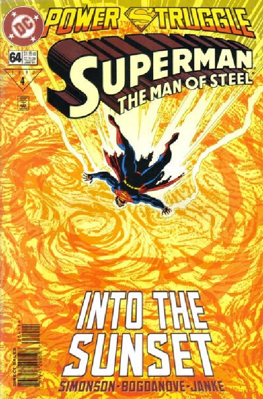 Cover of Superman: Man of Steel (Vol 1) #64. One of 250,000 Vintage American Comics on sale from Krypton!