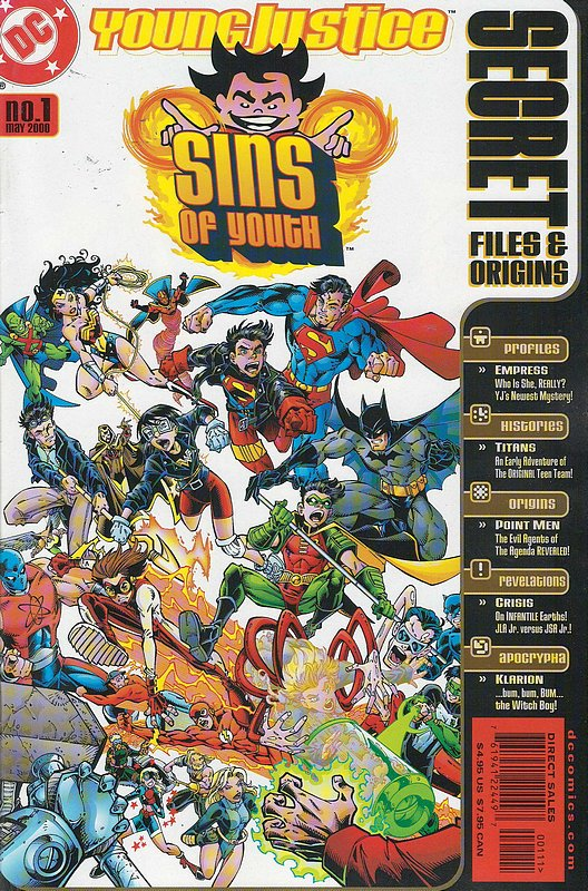 Cover of Young Justice: Sins of Youth Secret Files #1. One of 250,000 Vintage American Comics on sale from Krypton!
