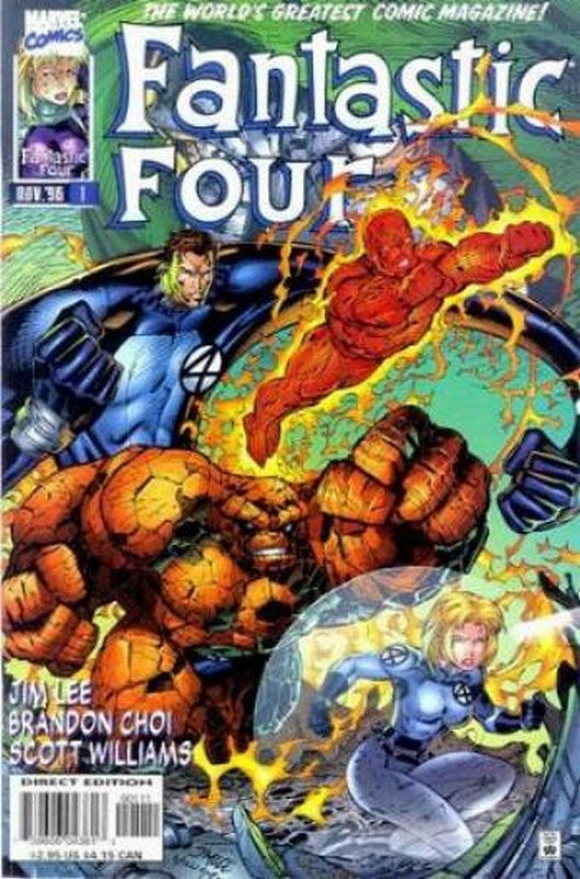 Cover of Fantastic Four (Vol 2) #1. One of 250,000 Vintage American Comics on sale from Krypton!