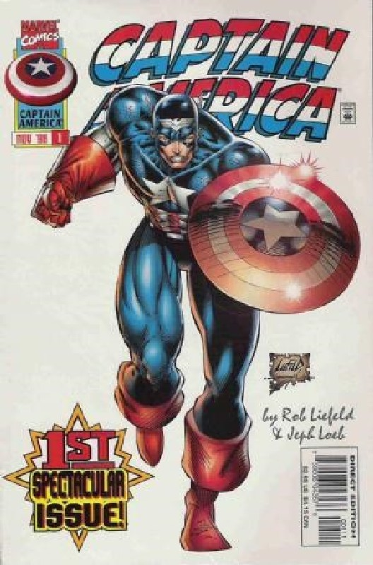 Cover of Captain America (Vol 2) #1. One of 250,000 Vintage American Comics on sale from Krypton!