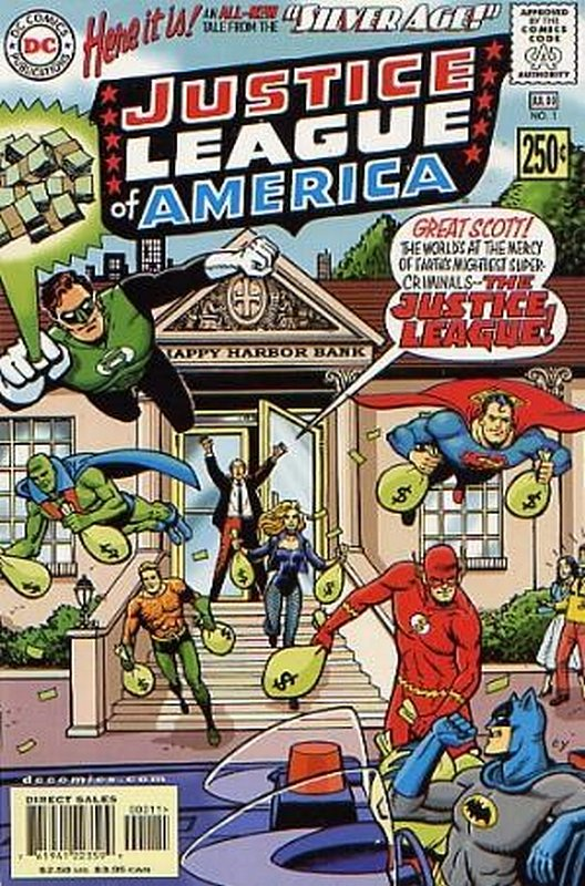 Cover of Silver Age: Justice League of America #1. One of 250,000 Vintage American Comics on sale from Krypton!