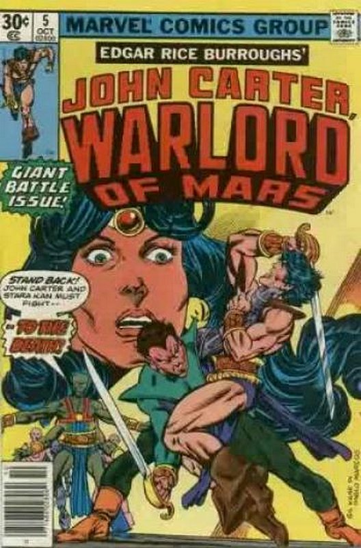 Cover of John Carter: Warlord or Mars (Vol 1) #5. One of 250,000 Vintage American Comics on sale from Krypton!