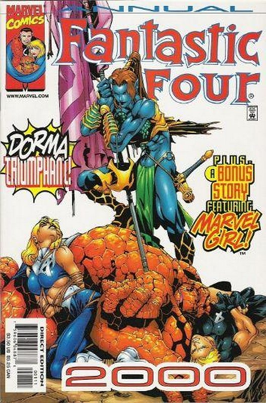 Cover of Fantastic Four 2000 #1. One of 250,000 Vintage American Comics on sale from Krypton!