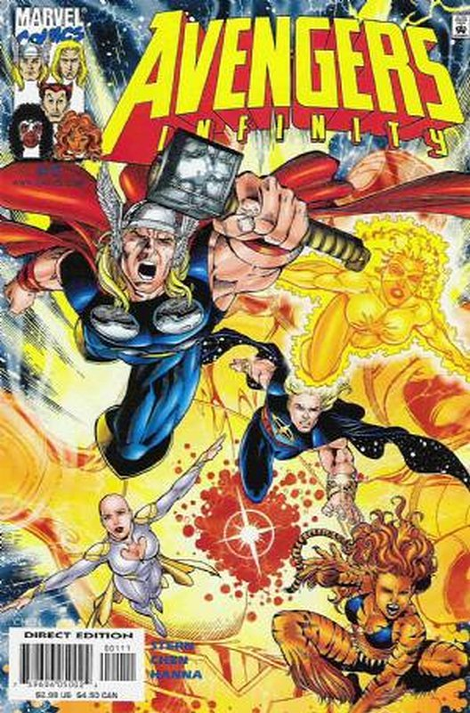 Cover of Avengers Infinity (2000 Ltd) #1. One of 250,000 Vintage American Comics on sale from Krypton!