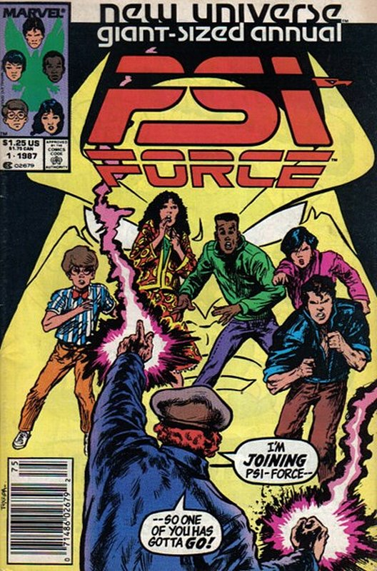 Cover of PSI Force Annual #1. One of 250,000 Vintage American Comics on sale from Krypton!