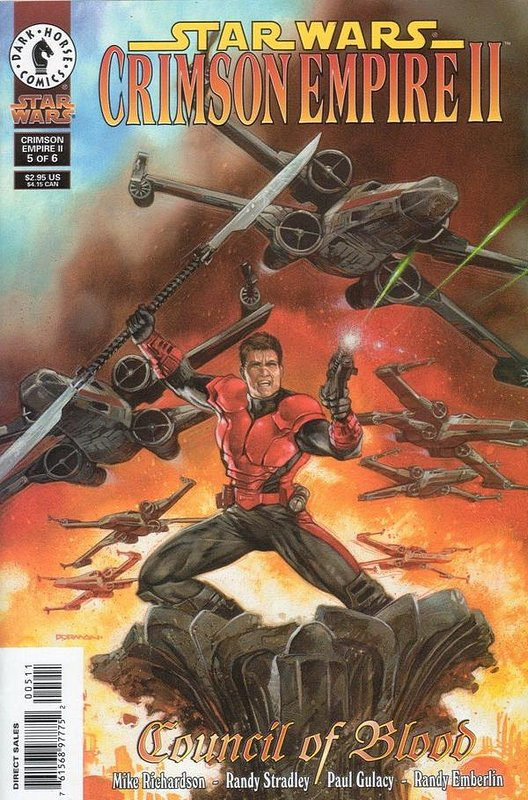 Cover of Star Wars: Crimson Empire II #5. One of 250,000 Vintage American Comics on sale from Krypton!