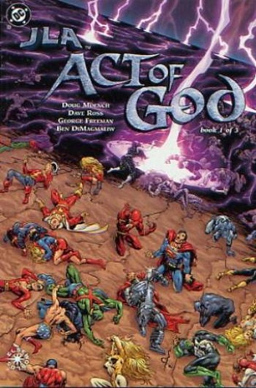 Cover of JLA: Act of God (2000 Ltd) #1. One of 250,000 Vintage American Comics on sale from Krypton!
