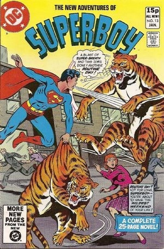 Cover of Superboy, The New Adventures of #13. One of 250,000 Vintage American Comics on sale from Krypton!