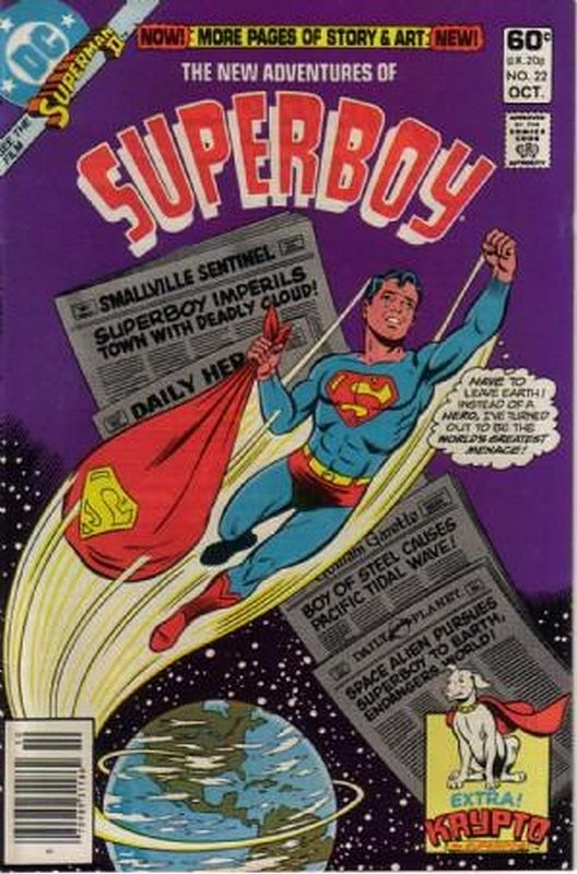 Cover of Superboy, The New Adventures of #22. One of 250,000 Vintage American Comics on sale from Krypton!