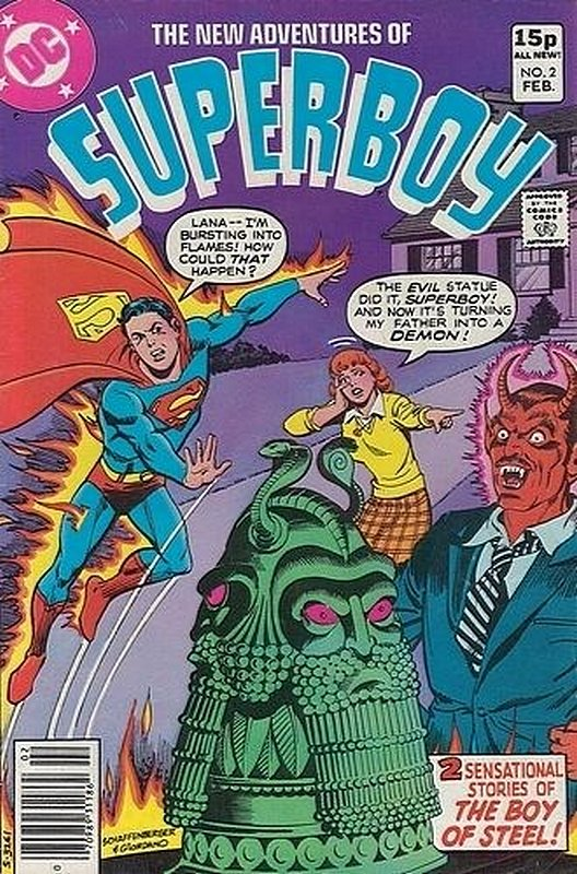 Cover of Superboy, The New Adventures of #2. One of 250,000 Vintage American Comics on sale from Krypton!