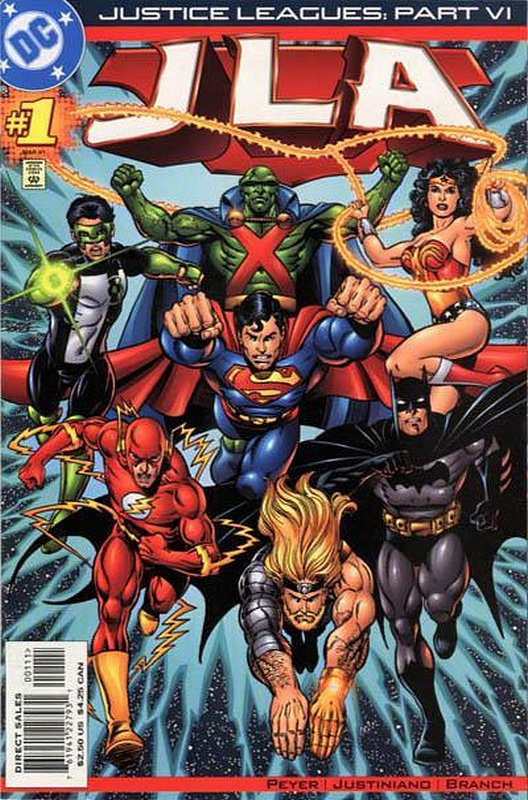 Cover of Justice Leagues: JLA (2001 One Shot) #1. One of 250,000 Vintage American Comics on sale from Krypton!