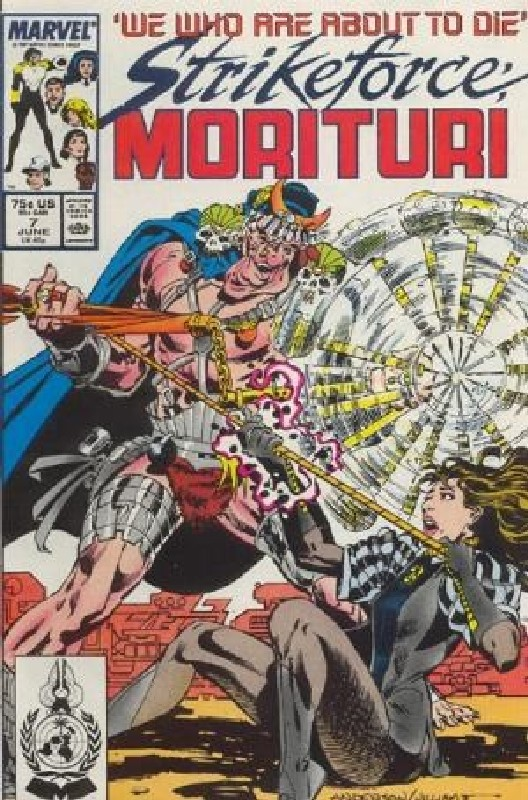 Cover of Strikeforce: Morituri (Vol 1) #7. One of 250,000 Vintage American Comics on sale from Krypton!