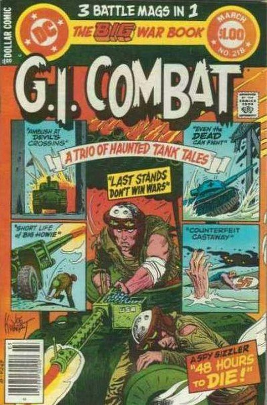 Cover of G. I. Combat (Vol 1) #218. One of 250,000 Vintage American Comics on sale from Krypton!