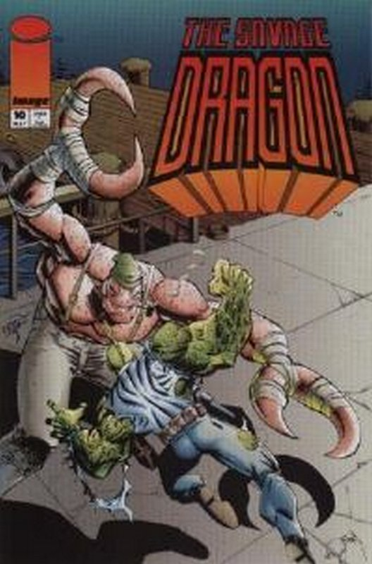 Cover of Savage Dragon #10. One of 250,000 Vintage American Comics on sale from Krypton!