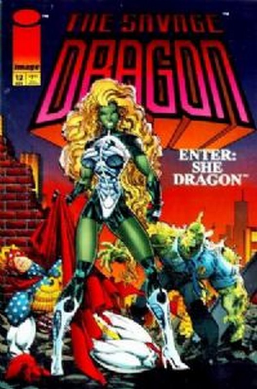 Cover of Savage Dragon #12. One of 250,000 Vintage American Comics on sale from Krypton!
