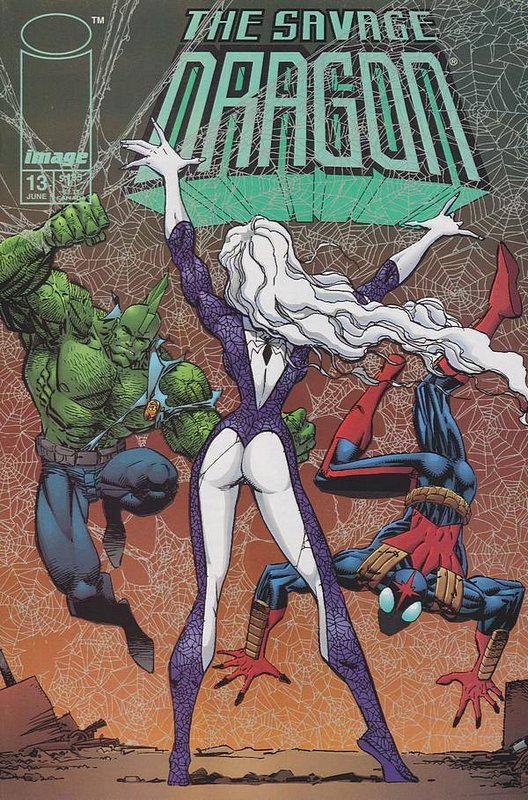 Cover of Savage Dragon #13. One of 250,000 Vintage American Comics on sale from Krypton!