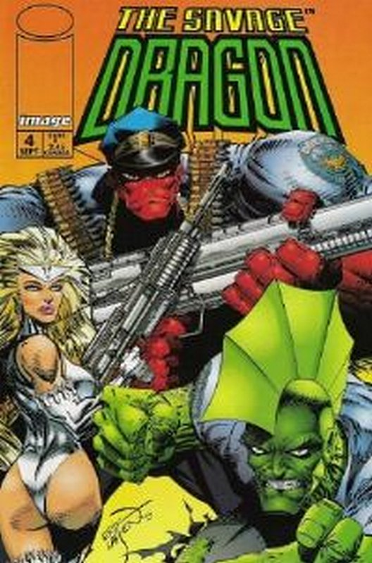 Cover of Savage Dragon #4. One of 250,000 Vintage American Comics on sale from Krypton!