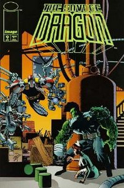 Cover of Savage Dragon #9. One of 250,000 Vintage American Comics on sale from Krypton!