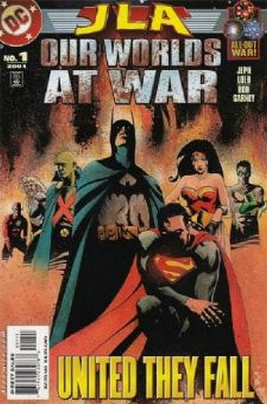 Cover of JLA: Our Worlds at War (2001 One Shot) #1. One of 250,000 Vintage American Comics on sale from Krypton!