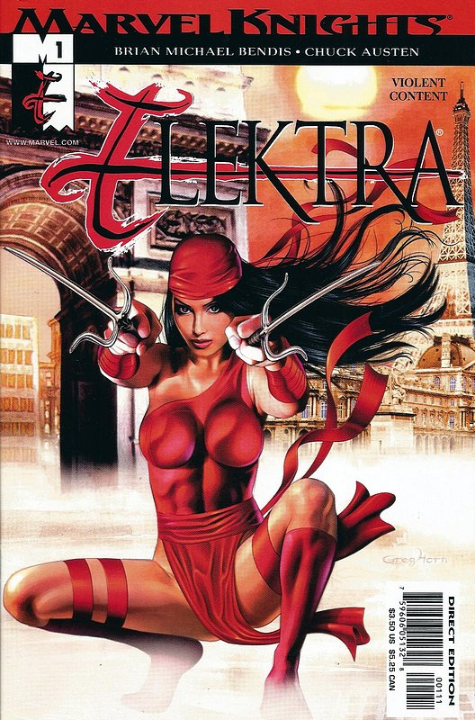 Cover of Elektra (Vol 2) #1. One of 250,000 Vintage American Comics on sale from Krypton!