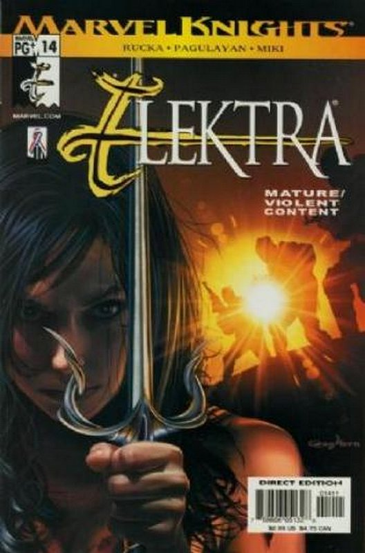 Cover of Elektra (Vol 2) #14. One of 250,000 Vintage American Comics on sale from Krypton!