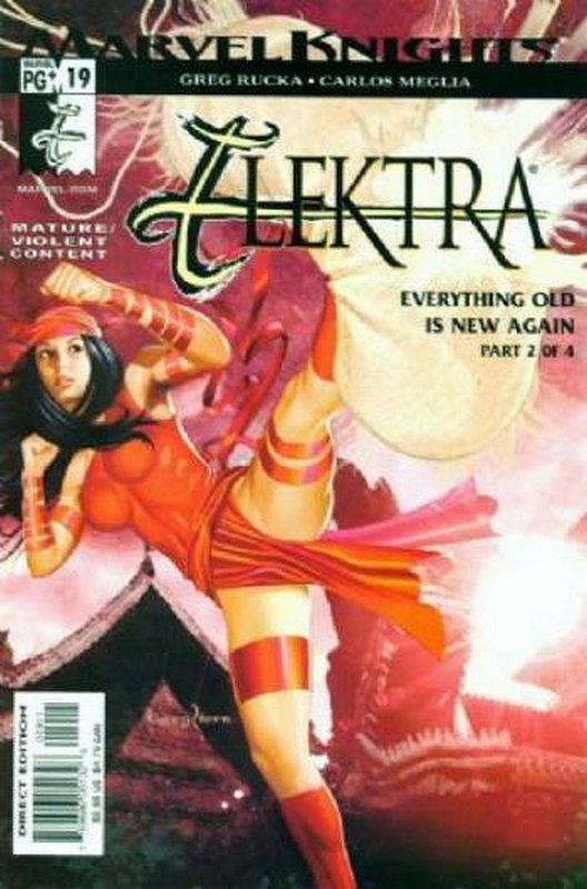 Cover of Elektra (Vol 2) #19. One of 250,000 Vintage American Comics on sale from Krypton!