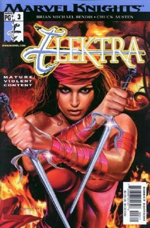 Cover of Elektra (Vol 2) #3. One of 250,000 Vintage American Comics on sale from Krypton!
