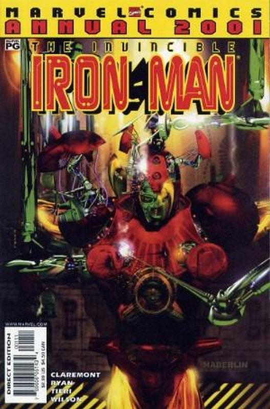 Cover of Iron Man Annual 2001 #2001. One of 250,000 Vintage American Comics on sale from Krypton!