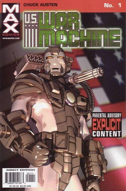Cover of US War Machine (2001 Ltd) #1. One of 250,000 Vintage American Comics on sale from Krypton!