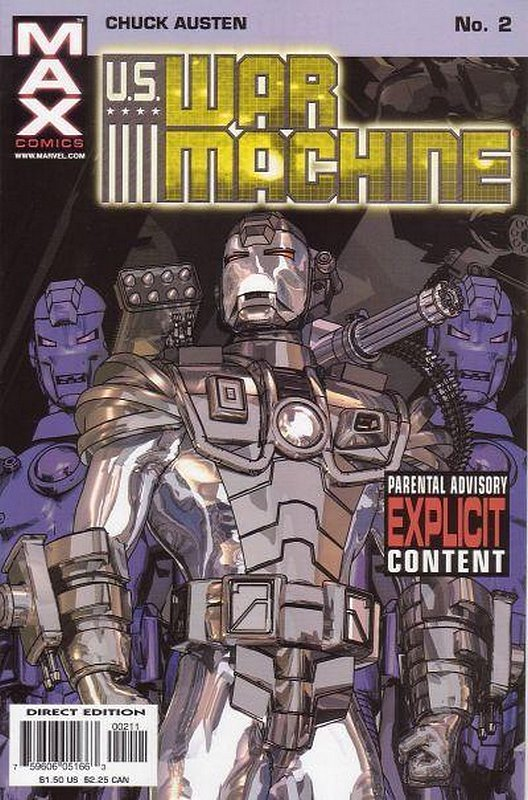 Cover of US War Machine (2001 Ltd) #2. One of 250,000 Vintage American Comics on sale from Krypton!