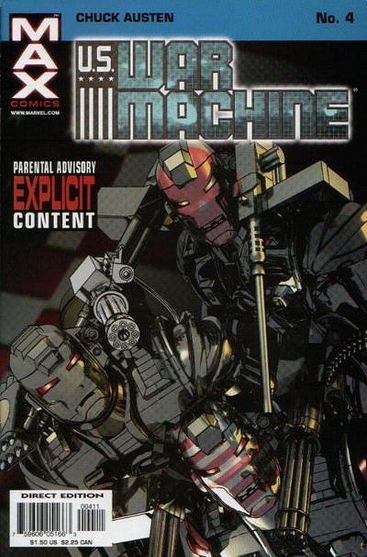 Cover of US War Machine (2001 Ltd) #4. One of 250,000 Vintage American Comics on sale from Krypton!