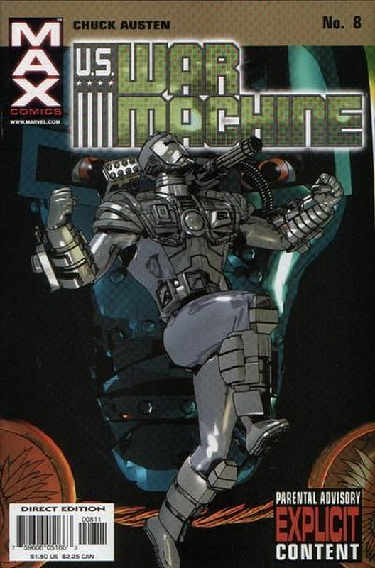Cover of US War Machine (2001 Ltd) #8. One of 250,000 Vintage American Comics on sale from Krypton!