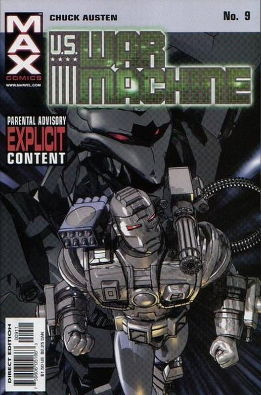Cover of US War Machine (2001 Ltd) #9. One of 250,000 Vintage American Comics on sale from Krypton!